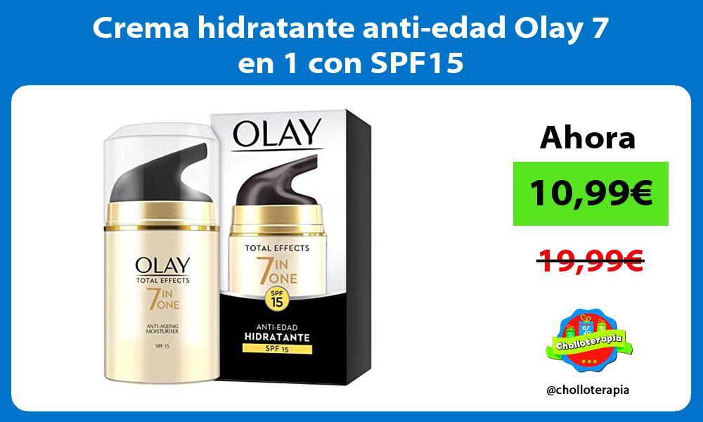 Crema hidratante anti edad Olay 7 en 1 con SPF15