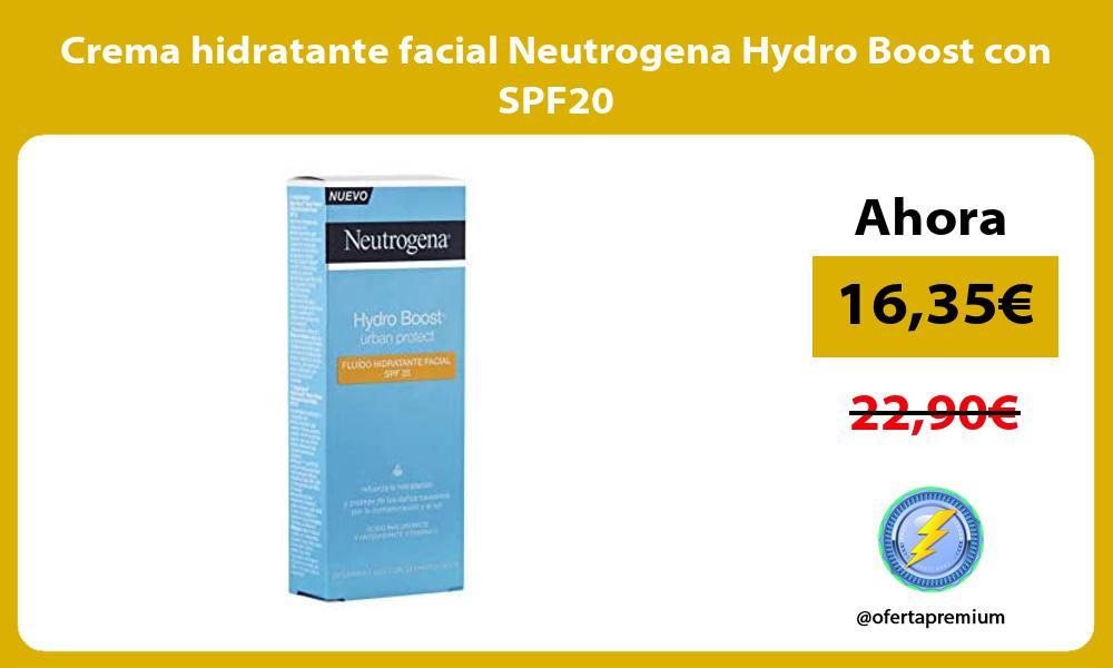 Crema hidratante facial Neutrogena Hydro Boost con SPF20