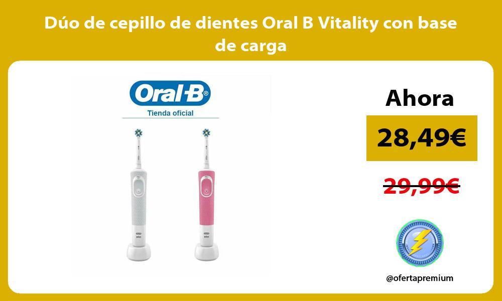 Dúo de cepillo de dientes Oral B Vitality con base de carga