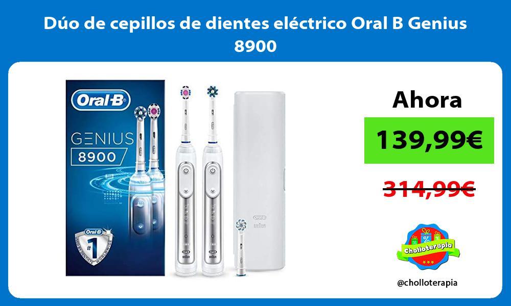 Dúo de cepillos de dientes eléctrico Oral B Genius 8900