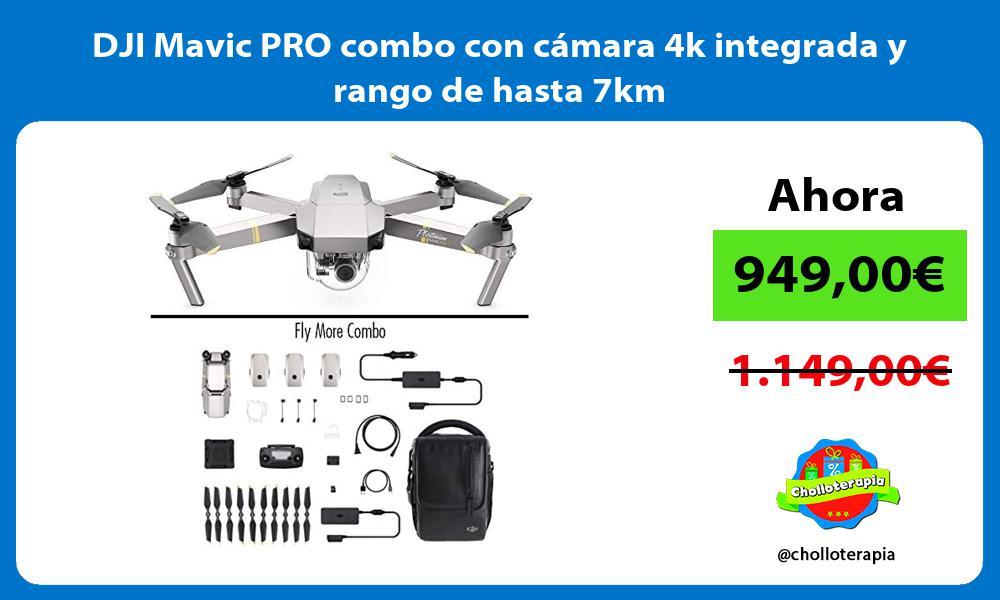 DJI Mavic PRO combo con cámara 4k integrada y rango de hasta 7km