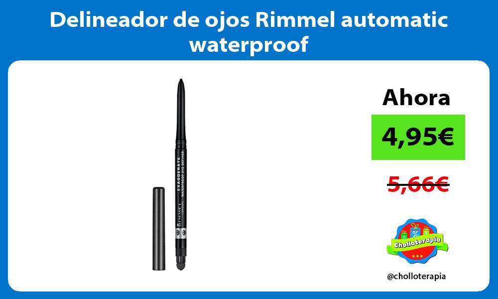 Delineador de ojos Rimmel automatic waterproof