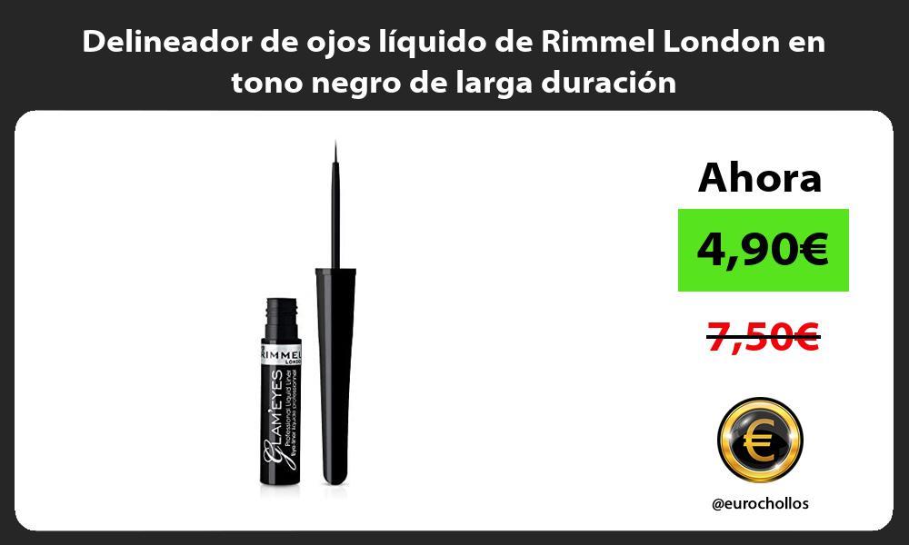 Delineador de ojos líquido de Rimmel London en tono negro de larga duración