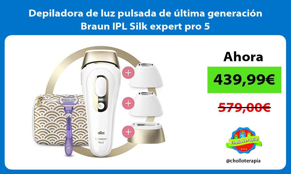 Depiladora de luz pulsada de última generación Braun IPL Silk expert pro 5