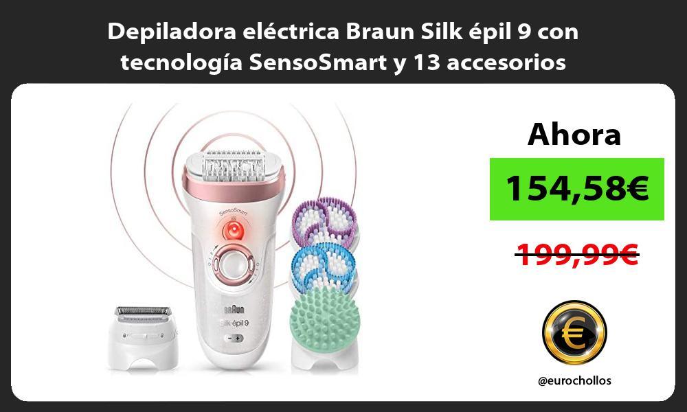Depiladora eléctrica Braun Silk épil 9 con tecnología SensoSmart y 13 accesorios