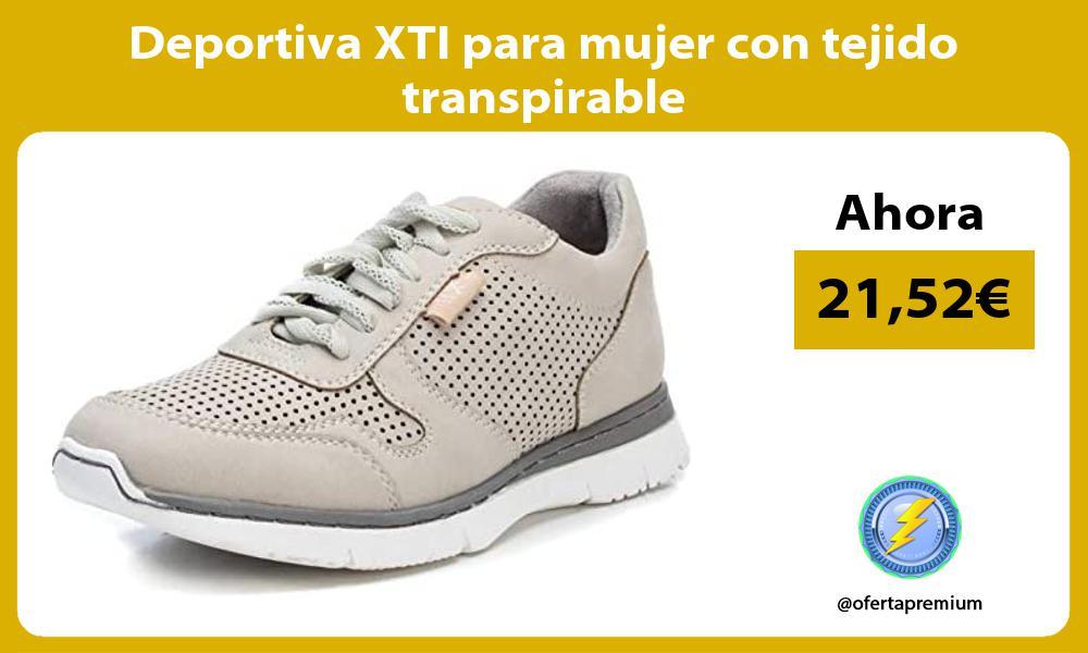 Deportiva XTI para mujer con tejido transpirable