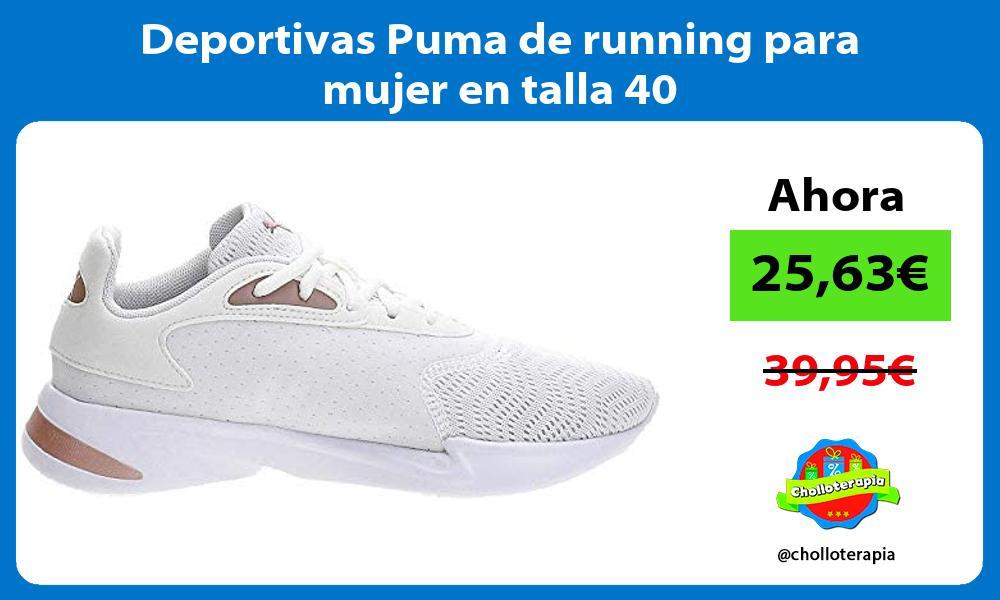 Deportivas Puma de running para mujer en talla 40