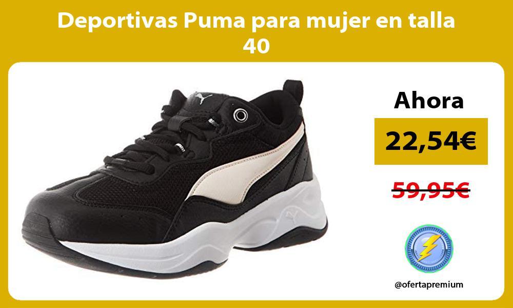 Deportivas Puma para mujer en talla 40