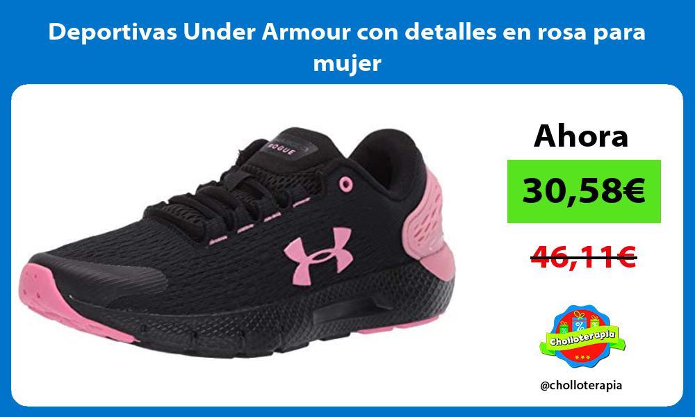 Deportivas Under Armour con detalles en rosa para mujer