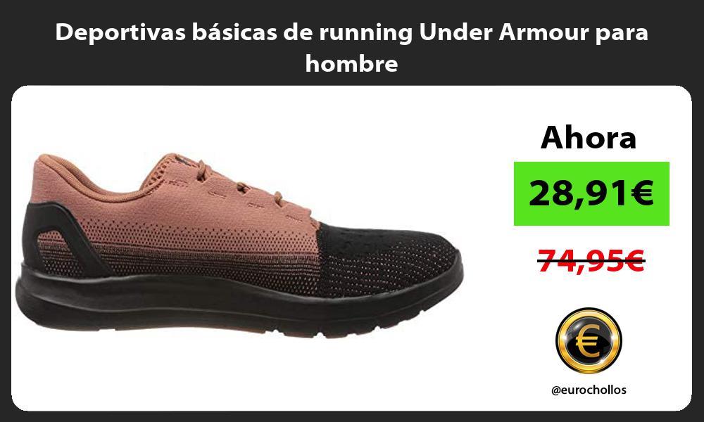 Deportivas básicas de running Under Armour para hombre