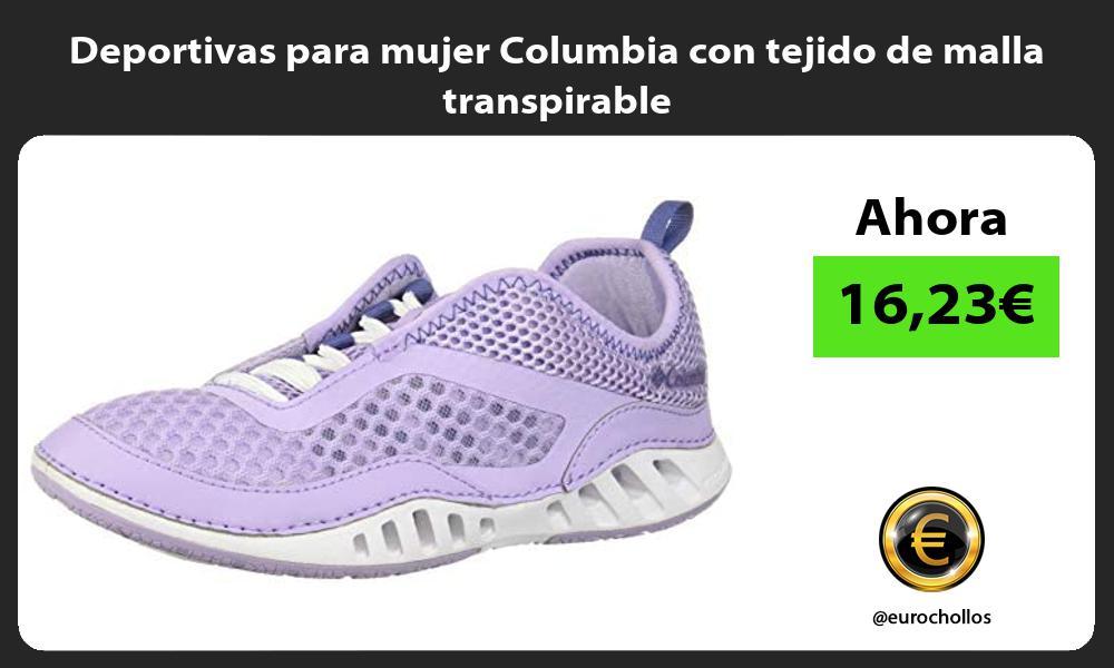 Deportivas para mujer Columbia con tejido de malla transpirable