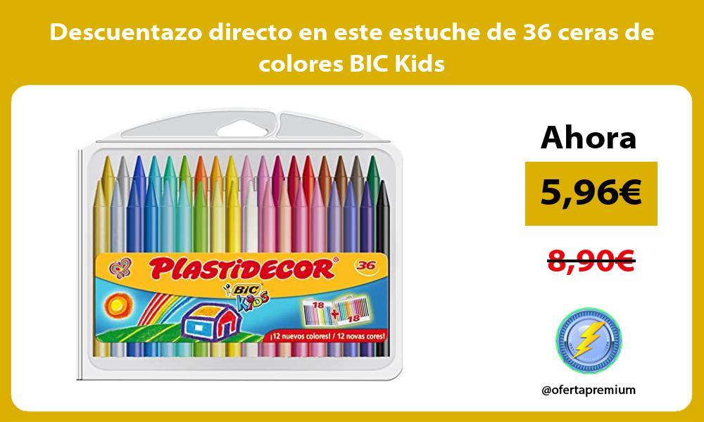 Descuentazo directo en este estuche de 36 ceras de colores BIC Kids
