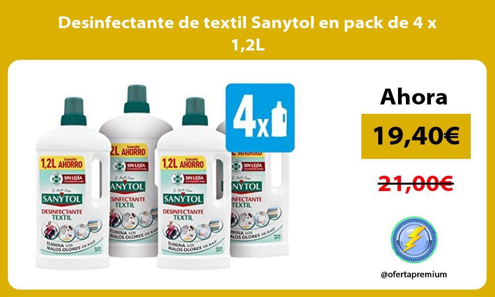 Desinfectante de textil Sanytol en pack de 4 x 12L