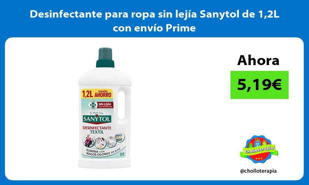 Desinfectante para ropa sin lejía Sanytol de 12L con envío Prime