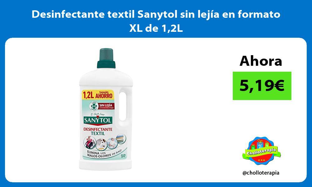 Desinfectante textil Sanytol sin lejía en formato XL de 12L