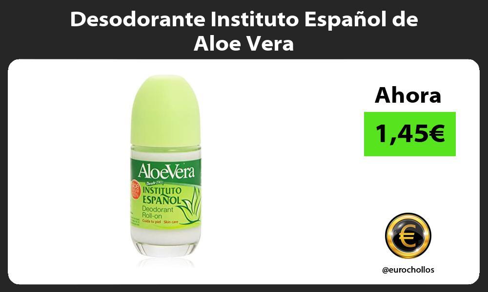 Desodorante Instituto Español de Aloe Vera