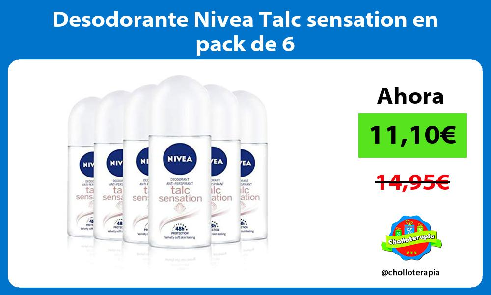 Desodorante Nivea Talc sensation en pack de 6