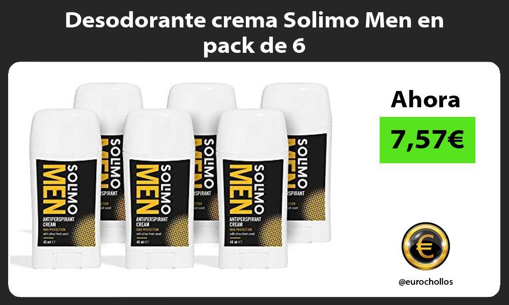 Desodorante crema Solimo Men en pack de 6