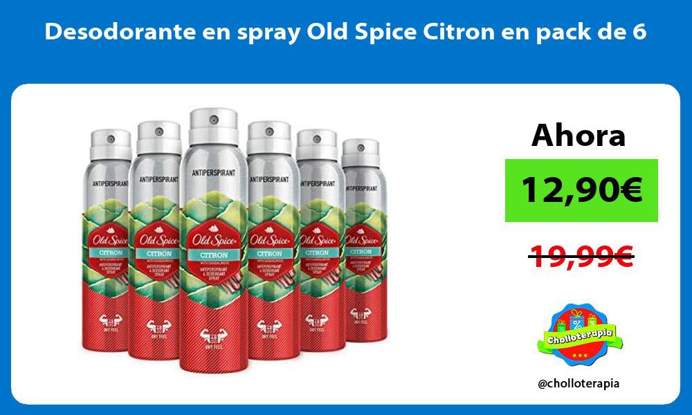 Desodorante en spray Old Spice Citron en pack de 6