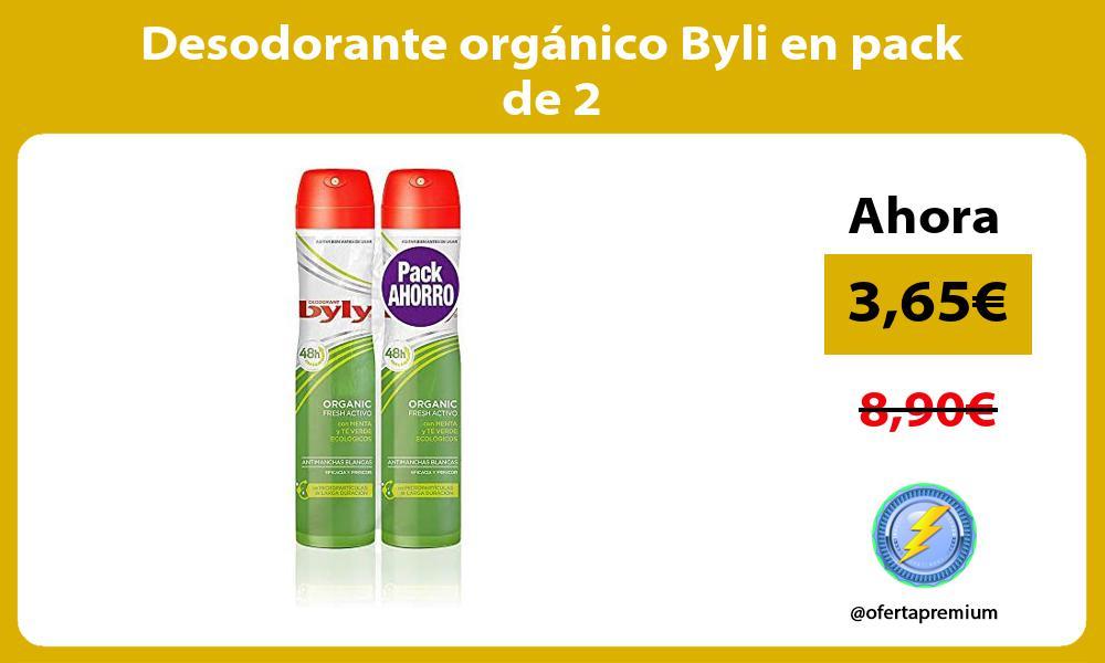 Desodorante orgánico Byli en pack de 2