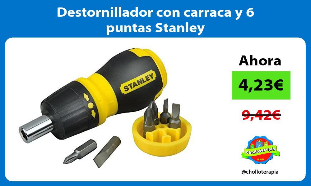 Destornillador con carraca y 6 puntas Stanley