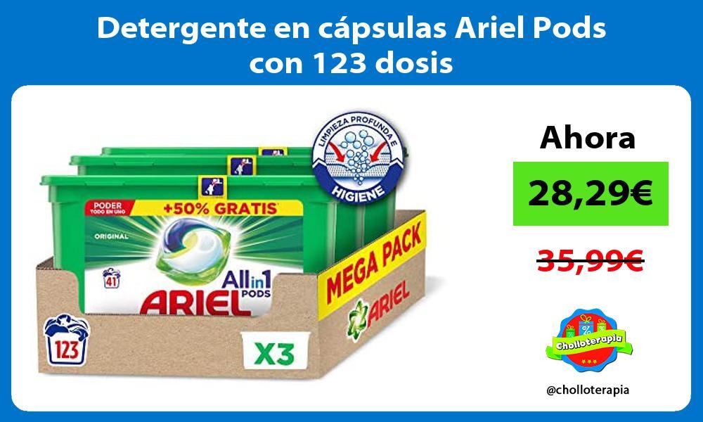 Detergente en cápsulas Ariel Pods con 123 dosis