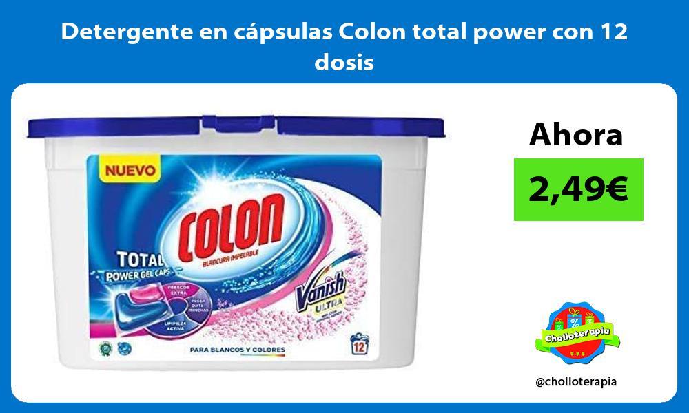 Detergente en cápsulas Colon total power con 12 dosis