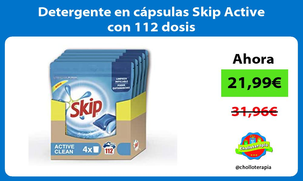 Detergente en cápsulas Skip Active con 112 dosis