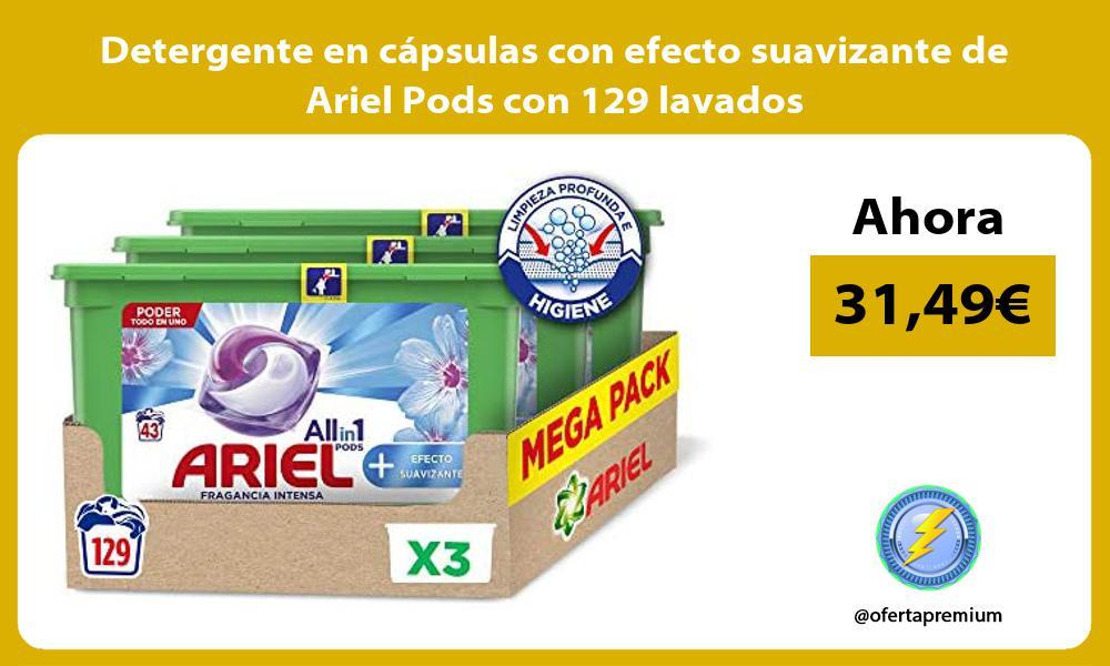 Detergente en cápsulas con efecto suavizante de Ariel Pods con 129 lavados
