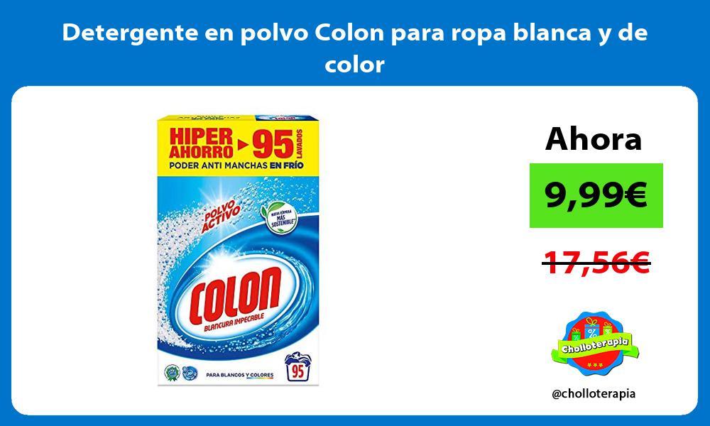 Detergente en polvo Colon para ropa blanca y de color