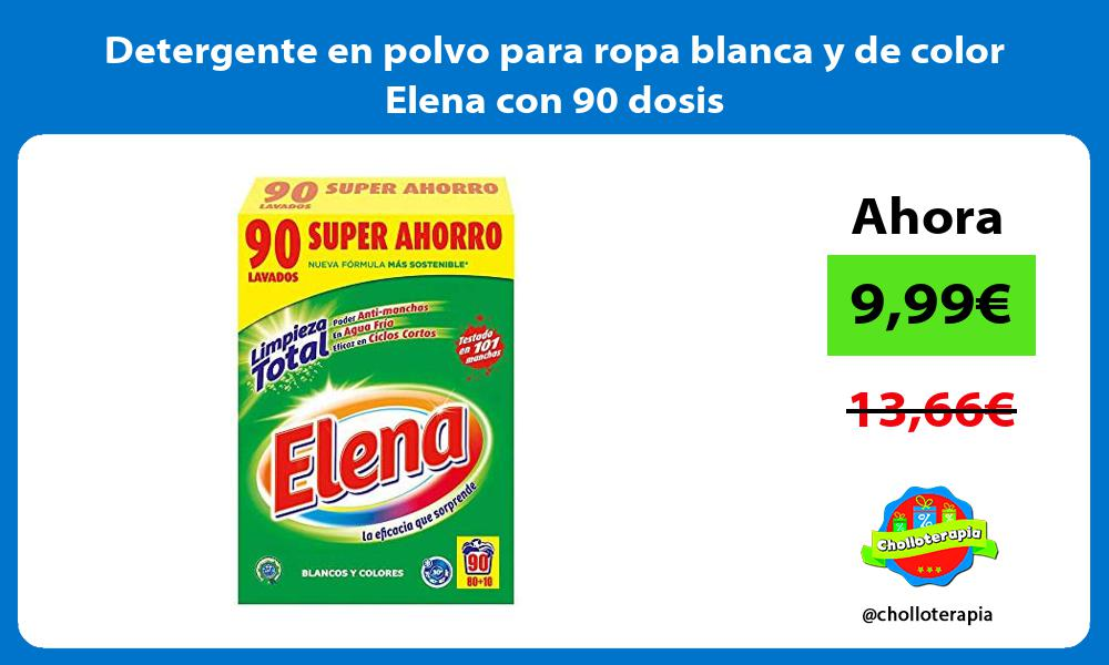 Detergente en polvo para ropa blanca y de color Elena con 90 dosis