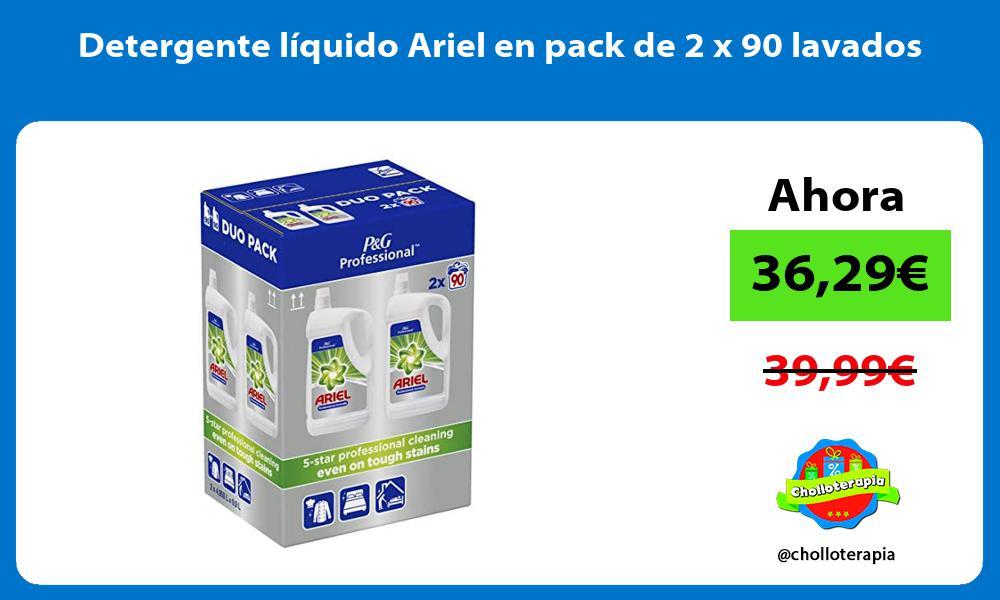 Detergente líquido Ariel en pack de 2 x 90 lavados