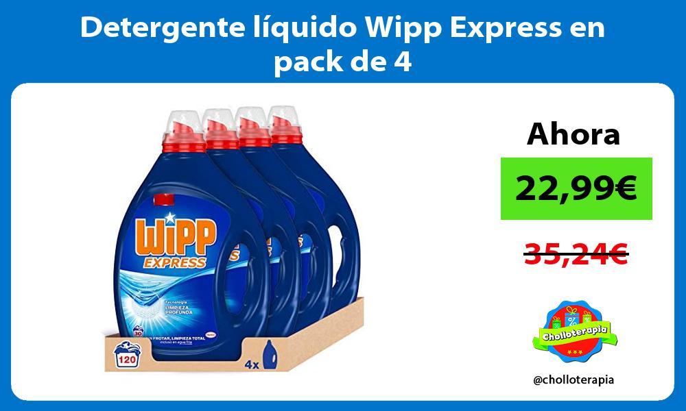 Detergente líquido Wipp Express en pack de 4