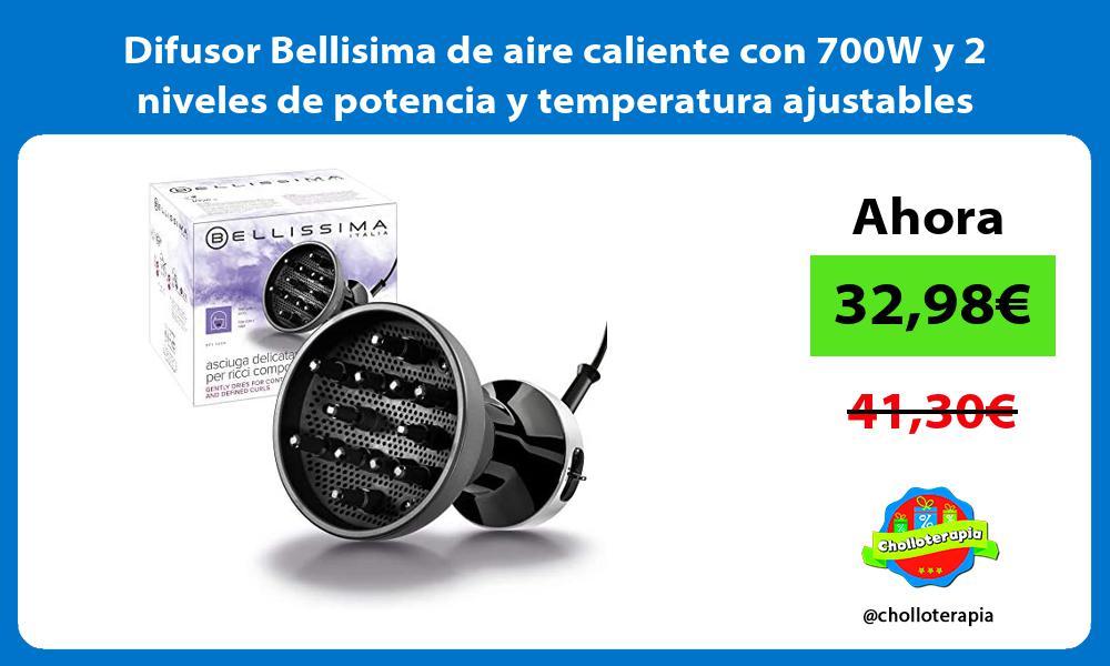 Difusor Bellisima de aire caliente con 700W y 2 niveles de potencia y temperatura ajustables