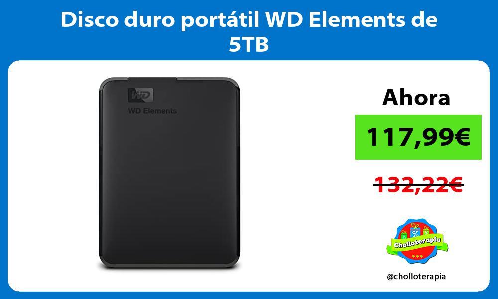 Disco duro portátil WD Elements de 5TB