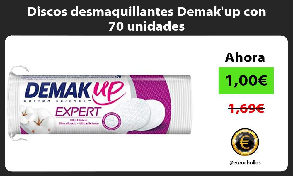 Discos desmaquillantes Demakup con 70 unidades