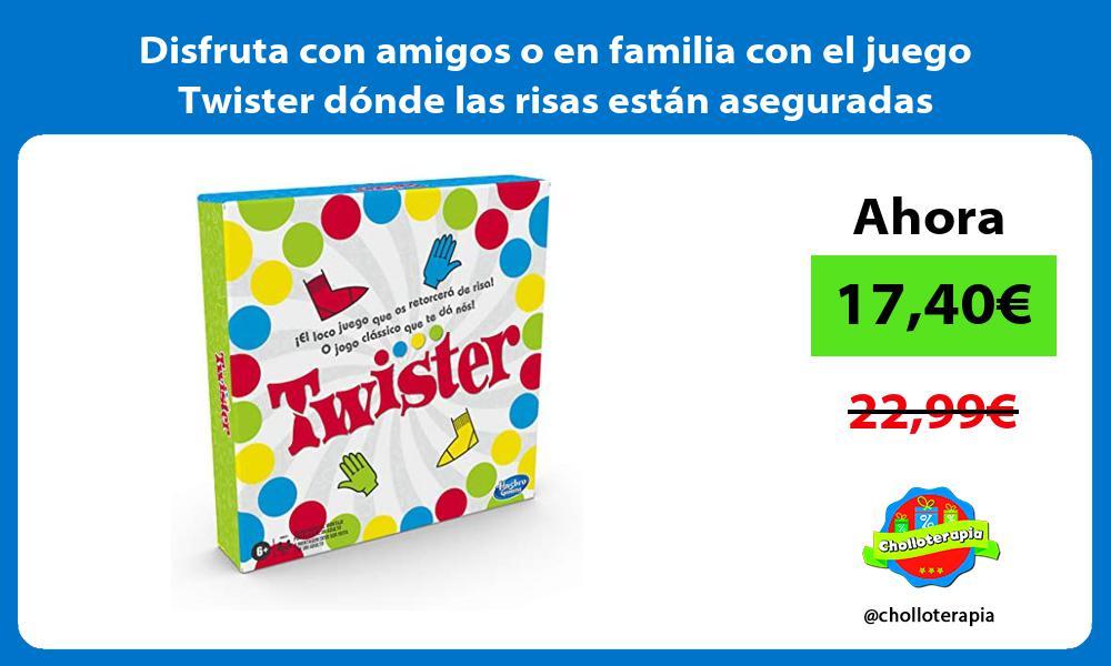 Disfruta con amigos o en familia con el juego Twister dónde las risas están aseguradas