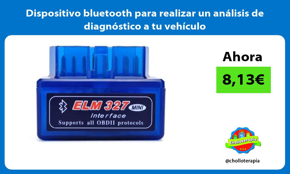 Dispositivo bluetooth para realizar un análisis de diagnóstico a tu vehículo