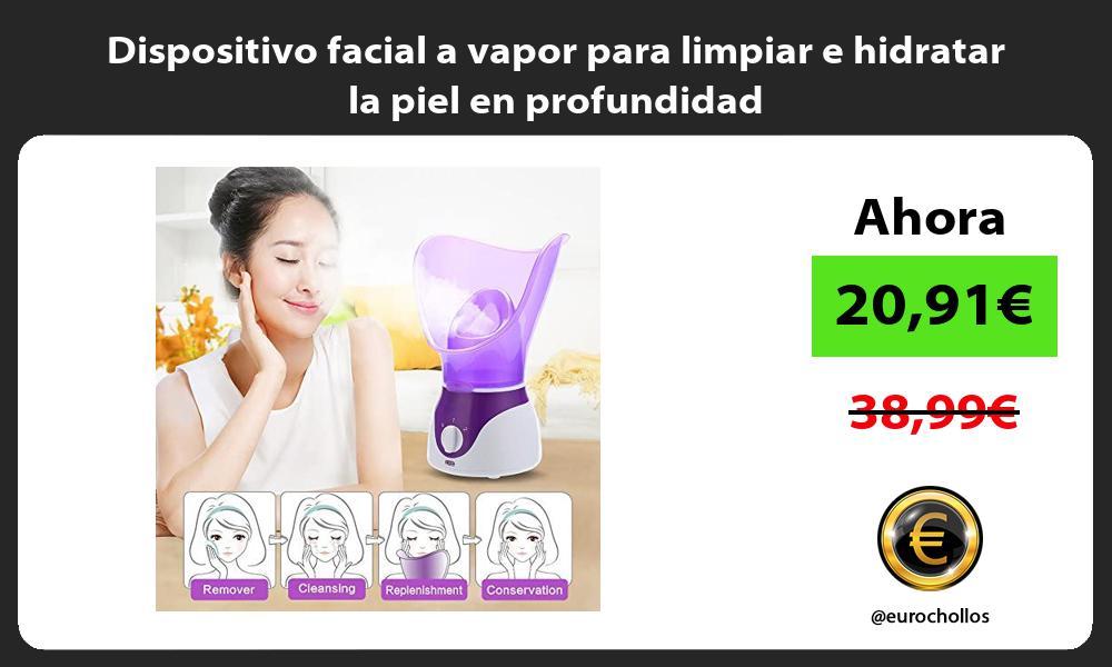 Dispositivo facial a vapor para limpiar e hidratar la piel en profundidad