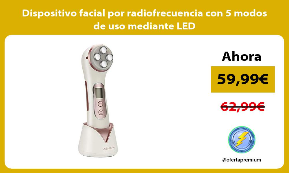 Dispositivo facial por radiofrecuencia con 5 modos de uso mediante LED
