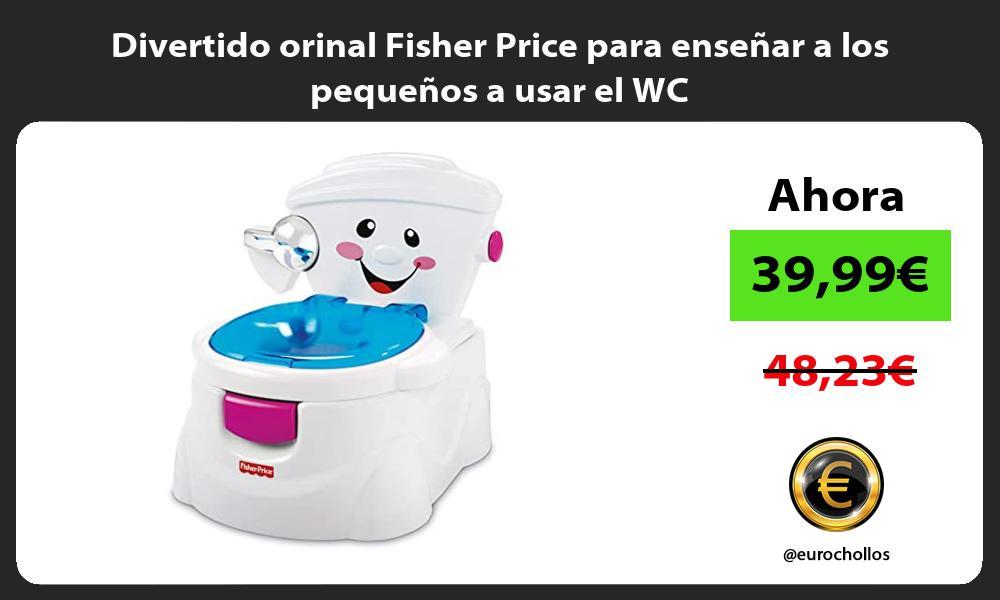 Divertido orinal Fisher Price para enseñar a los pequeños a usar el WC