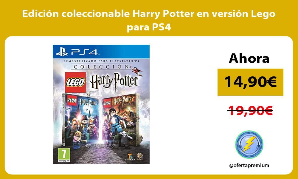 Edición coleccionable Harry Potter en versión Lego para PS4