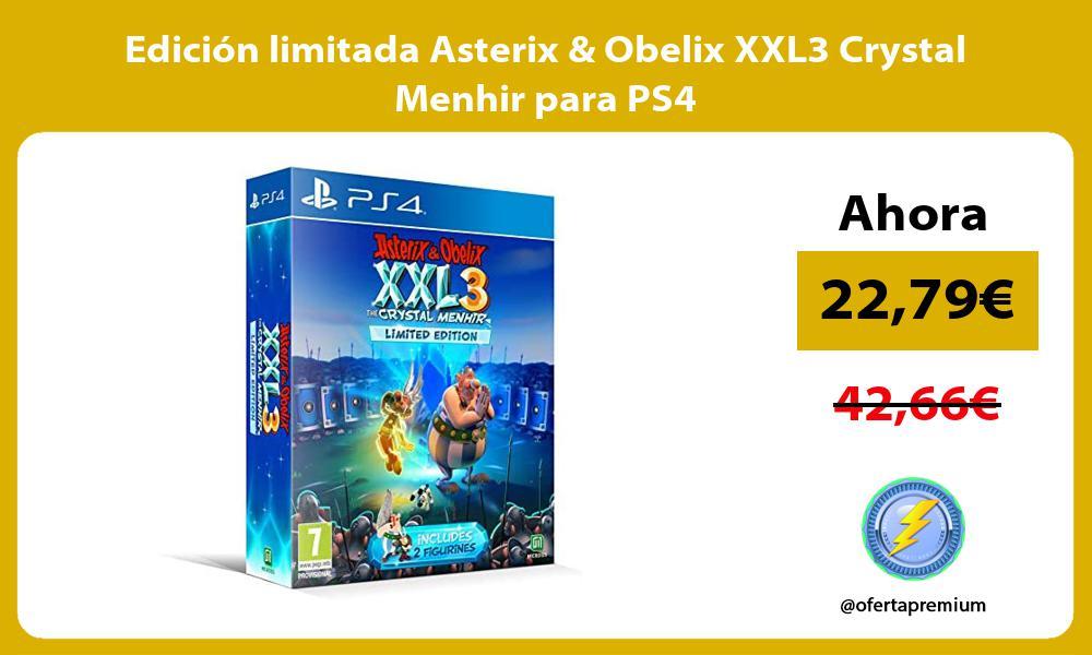 Edición limitada Asterix Obelix XXL3 Crystal Menhir para PS4