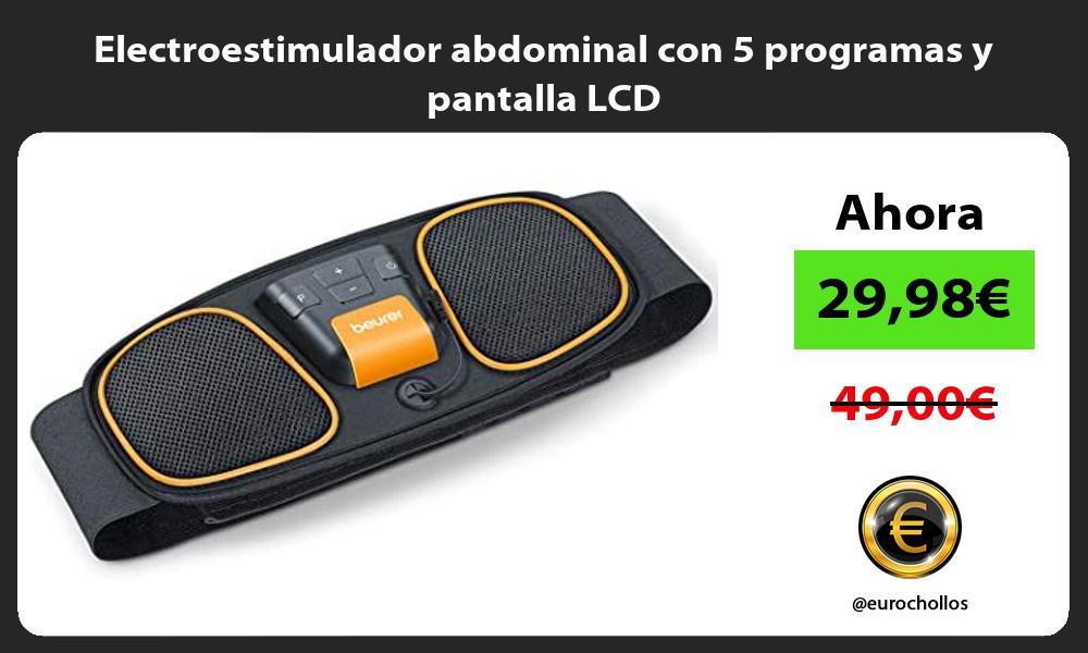 Electroestimulador abdominal con 5 programas y pantalla LCD