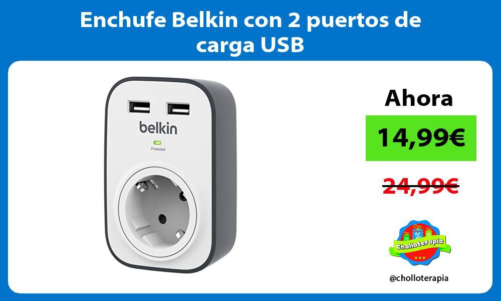 Enchufe Belkin con 2 puertos de carga USB