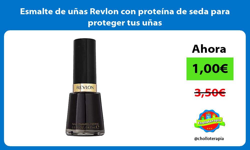 Esmalte de uñas Revlon con proteína de seda para proteger tus uñas