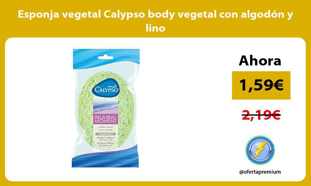 Esponja vegetal Calypso body vegetal con algodón y lino