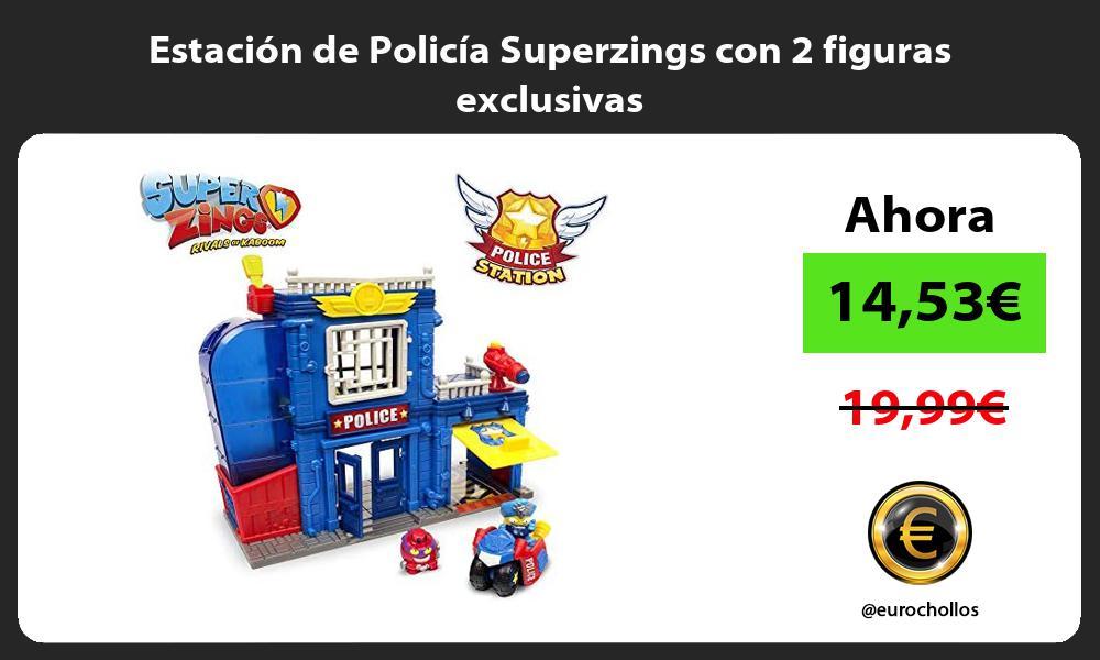 Estación de Policía Superzings con 2 figuras exclusivas