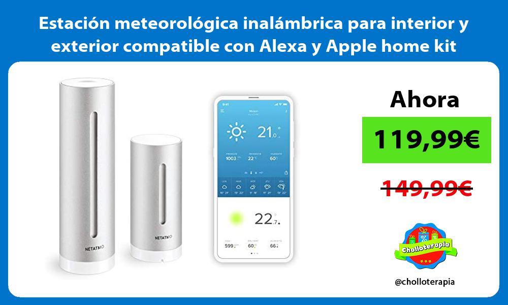 Estación meteorológica inalámbrica para interior y exterior compatible con Alexa y Apple home kit