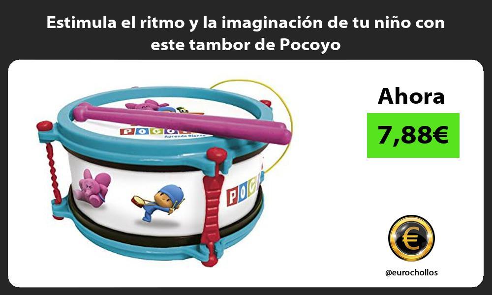 Estimula el ritmo y la imaginación de tu niño con este tambor de Pocoyo